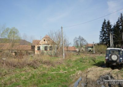 Transylvania village offroad